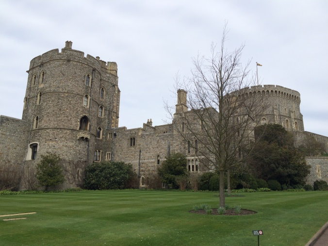 Blonde In Grey - An Afternoon at Windsor Castle (1)