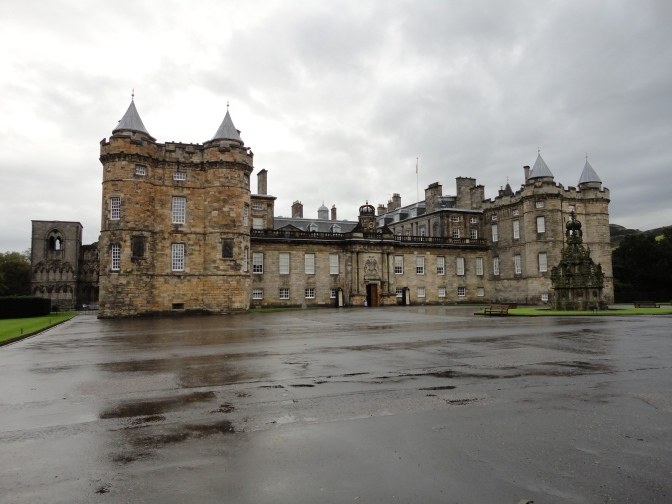 Blonde In Grey - Holyroodhouse (2)