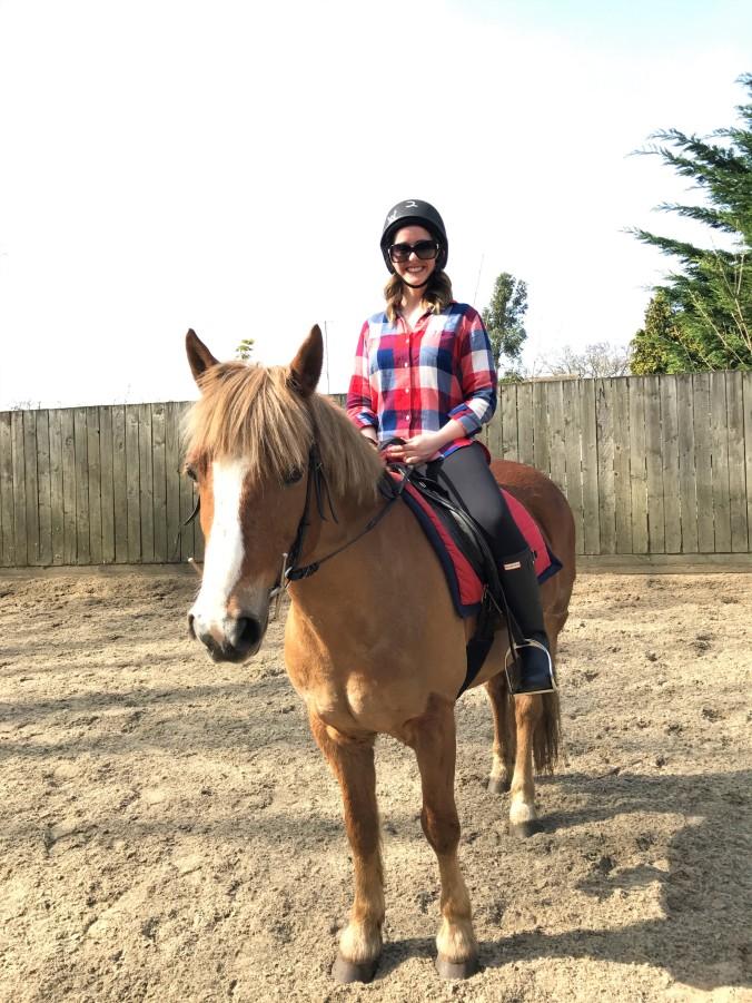 Blonde In Grey - Horseback Riding (21)