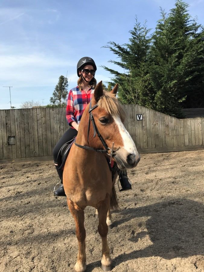 Blonde In Grey - Horseback Riding (22)