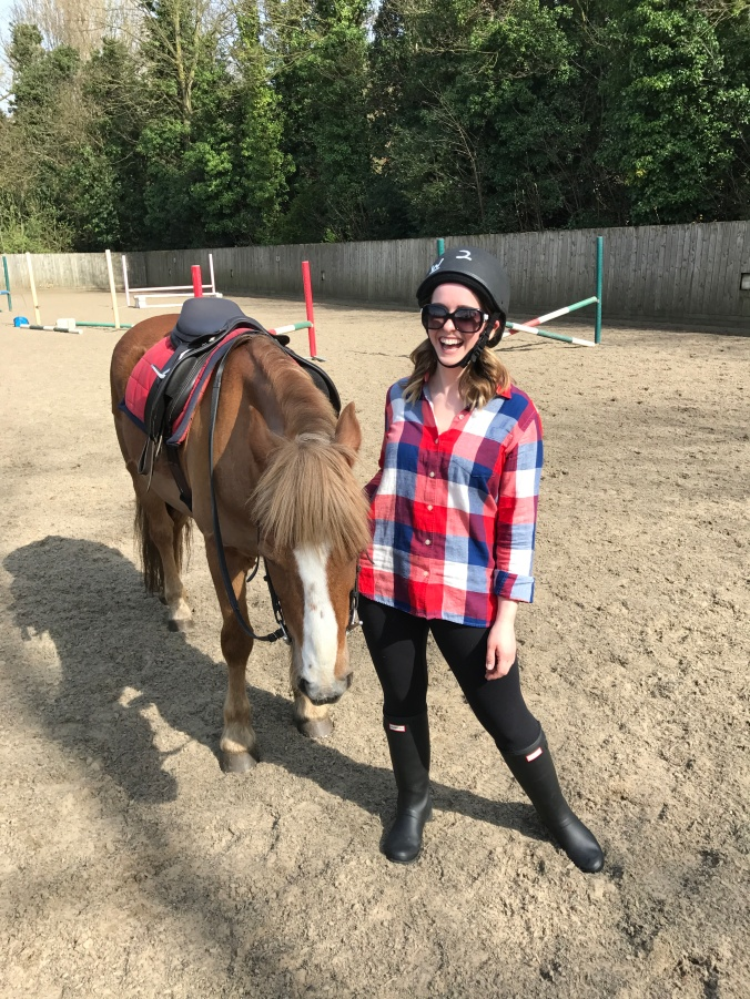 Blonde In Grey - Horseback Riding (25)