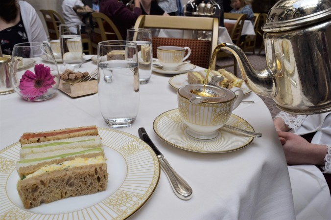 Surprise Birthday Tea at The Langham - Blonde In Grey (7)