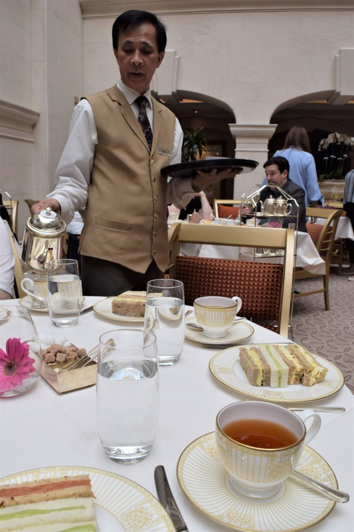 Surprise Birthday Tea at The Langham - Blonde In Grey (8)